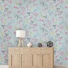 Holden Decor Charm Duck Egg Pink Humming Bird Wallpaper 12391