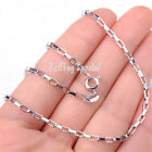 # BUY 1 GET 1 FREE# 925 Sterling Silver 2mm Square link Chain Necklace C1297