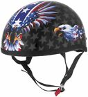 Skid Lid Lethal Threat Original USA Flame Eagle Half Helmet <br/> FREE Domestic Shipping - New Items - Excellent Service