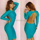 New Sexy Womens Fitted Bodycon Backless Lady Party Cut Out Mini Slim Dress K0E1