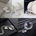 Beauty Crystal Ball Real Dandelion Seed Wishing Wish Necklace Long Silver Chain