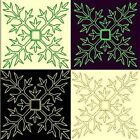 Anemone Quilt Squares 6-DESIGN 5-an Anemone Machine Embroidery single in 4 sizes
