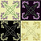 Anemone Quilt Squares 6-DESIGN 8-an Anemone Machine Embroidery single in 4 sizes