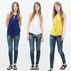 Tank Tops Chiffon Blouse Shirt Women's Fashion 3 Sizes Vest Casual XS S M K0E1