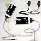 Flexible Stand up Cool USB Charging Sync Data Cable Chargering Holder For iPhone