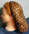 Net Style Hand Crocheted Beaded Hair Snood- Priced according to Length
