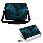 Laptop Notebook Computer Sleeve Bag with Shoulder Strap & Matching Skin