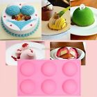 6 Half Ball Round Chocolate Cake Candy Soap Mold Flexible Silicone Mould New