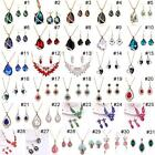 2pcs Gold Plated Wedding Crystal Set Necklace Earrings Jewelry Sets For Women BA