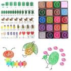 Exquisite 20 Colors Rainbow DIY Craft Finger Ink pads Rubber Stamps Card Making