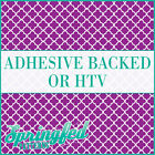 Purple & White Quatrefoil Pattern Adhesive Craft Vinyl or HTV for Shirts!