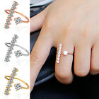 CHIC Women's Silver Plated Simple Drawing Adjustable Open Sterling Ring Jewelry