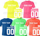 Custom NEON T-Shirt JERSEY Personalized Name Number Team Softball Football S-5XL image