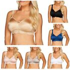 Breezies Wild Rose II Seamless Wirefree Support Bra A266224 NO PADDING - UNLINED