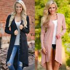 Women Fashion Casual V Neck Long Sleeve Solid Asymmetric Hem Long TXCL01
