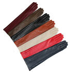"""47cm(18.5"""")long style evening long elbow top  leather gloves multi colors"""