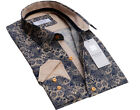 Russell & Giles Men`s Paisley Shirt Designer Pattern Tailored Fit