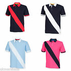 FRONT ROW DIAGONAL STRIPE COTTON PIQUE POLO SHIRT XS-XXL FR212