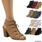 New Women Cut Out Strappy Gladiator Buckle Ankle Sandals Hig