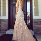 Lace Bridesmaid Prom Ball Gown Formal Evening Party Cocktail Long Maxi Dress NEW