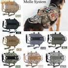 Dog Vest MOLLE System Tactical Army Dog Harness Vest Lead Bearing Clothes 5Size