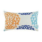 "CaliTime Floral Geometric Bolster Case Cushion Throw Pillows Cover Decor 12""X20"""