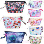 Vintage Floral Printed Cosmetic Bag Women Zipper Portable Travel Makeup Bags Hot
