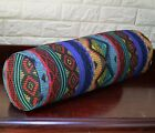 AL258g Turqoise Green Yellow Red Cotton Canvas Bolster Cover Nect Roll Yoga Case