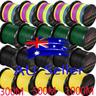 AU 300M-1000M 10-100lb Multicolor Blue Yellow Dyneema Braided Fishing Line