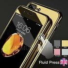 Mirror Hybrid 360° Hard Thin Case + Tempered Glass Cover For iPhone 6s 8 7 Plus
