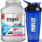 Maximuscle Cyclone 1.26kg 1260g All In One - Chocolate + FREE ProElite Shaker V3