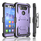 Shockproof Hybrid Holster Case Cover with Built-in Screen Protector for LG V20
