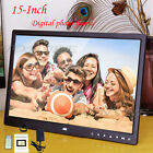 "15"" Inch HD 16:9 Digital Photo Frame Picture LED Alarm Clock MP4 SD USB TXT file"
