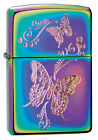 Personalised Butterflies Spectrum Chrome Zippo Lighter Engraved Gift