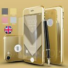 360 Protective Case Cover+Tempered Glass Screen Protector for iPhone 6 S 7 Plus