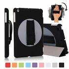 UK Stock 360°Rotatable Grip Strap Handheld Case,Smart Stand Cover for Apple iPad