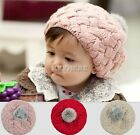 Cute Baby Winter Warm Toddler Knitted Crochet Beanie Kids Girls Hat Beret Cap @