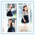 Christmas Navy Blue Polkadot Wedding Party Flowers Girls Dress SIZE 2,3,4,5,6,7T