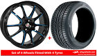 Alloy Wheels & Tyres 19'' Calibre Friction For Peugeot 4007 07-12
