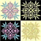 Anemone Quilt Squares 5-DESIGN 6-an Anemone Machine Embroidery single in 4 sizes