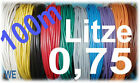 100mtr. flexible Litze 0,75 mm² H05V-K (1m=0,18€)