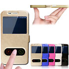 New Luxury Ultra-Thin Window Flip Leather Case Cover For Samsung Galaxy Series