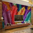 3D Sitting room the bedroom TV mural background Peacock feathers wallpaper 3101