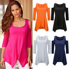 Women's Girl Sexy Lady Womens Casual Loose Off Shoulder Blouse T-shirt Clothes
