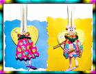 Sweet Handpainted ANGEL BUNNY Spring Easter Pin Brooch Made in USA FAST SHIP