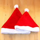 New High Quality Cute Red Soft Plush Child / Adult Christmas Hat Family Fitted