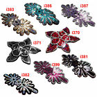 Sew On+8 Pattern Silver Gold Red Purple Starlight Sequin Applique Flower Leaf x1
