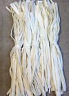 100-125-150 CREAMY WINTER WHITE  #8 cut wool strips for primitive rug hooking