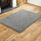 Modern Small X Large Rug Runner Circle Thick 5cm Pile Dark Grey Quality Shag Rug