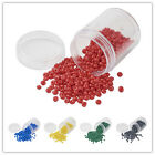 1Box Opaque Glass Seed Beads DIY Jewelry Findings & Design 4~5x3mm hole:1mm